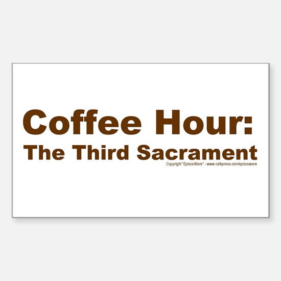 Coffee Hour Rectangle Decal