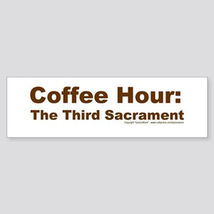Coffee Hour Bumper Sticker