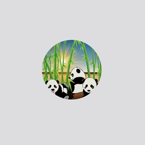 Panda Bears Mini Button