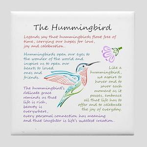 The Hummingbird Tile Coaster