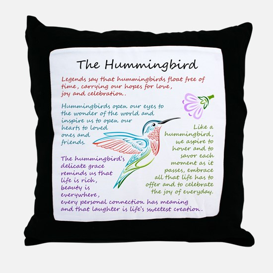 The Hummingbird Throw Pillow