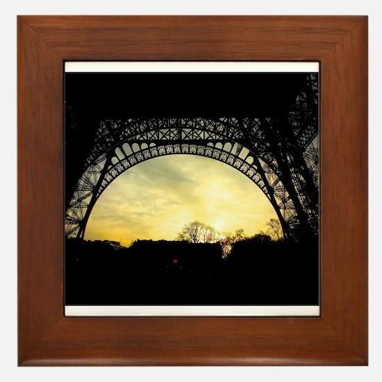 Funny Paris eiffel tower Framed Tile