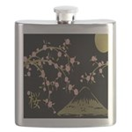 Pink Sakura Gold Black Flask