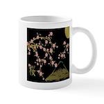 Pink Sakura Gold Black Mugs