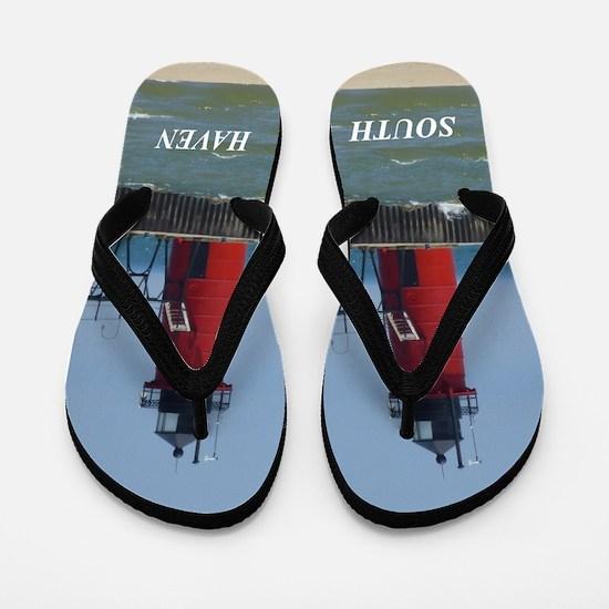 South Haven lighthouse Flip Flops