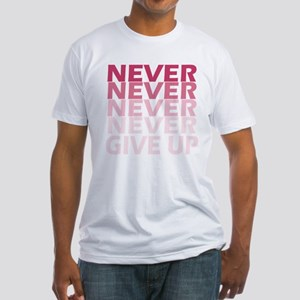 Never Give Up Pink Dark T-Shirt