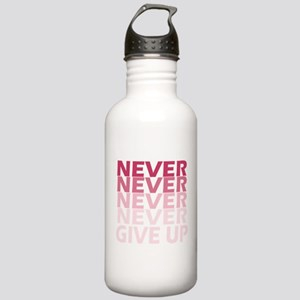 Never Give Up Pink Dar Stainless Water Bottle 1.0L