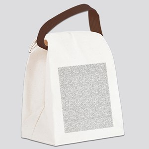 Silver Gray Glitter Sparkles Canvas Lunch Bag