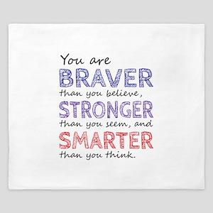 Braver Stronger Smarter King Duvet