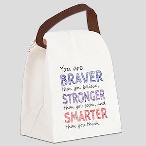 Braver Stronger Smarter Canvas Lunch Bag