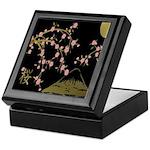 Pink Sakura Gold Black Keepsake Box