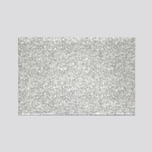 Silver Gray Glitter Sparkles Magnets