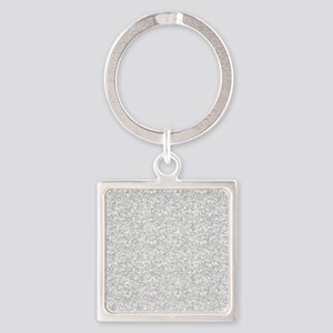 Silver Gray Glitter Sparkles Keychains