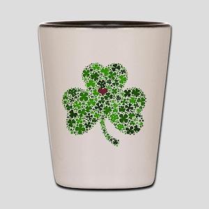 Irish Shamrock of Shamrocks for St. Pat Shot Glass