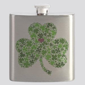 Irish Shamrock of Shamrocks for St. Patricks Flask