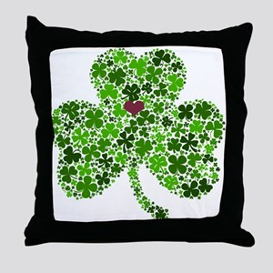 Irish Shamrock of Shamrocks for St. P Throw Pillow