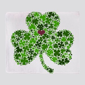Irish Shamrock of Shamrocks for St. Throw Blanket