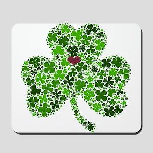 Irish Shamrock of Shamrocks for St. Patr Mousepad
