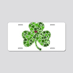 Irish Shamrock of Shamrocks Aluminum License Plate