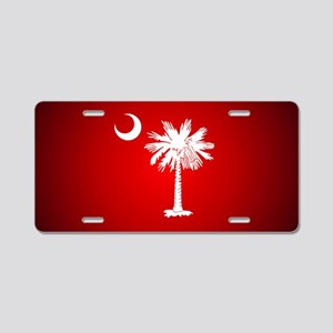 SC Big Red Aluminum License Plate