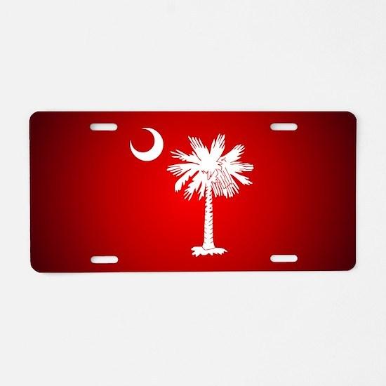 SC Big Red Aluminum License Plate