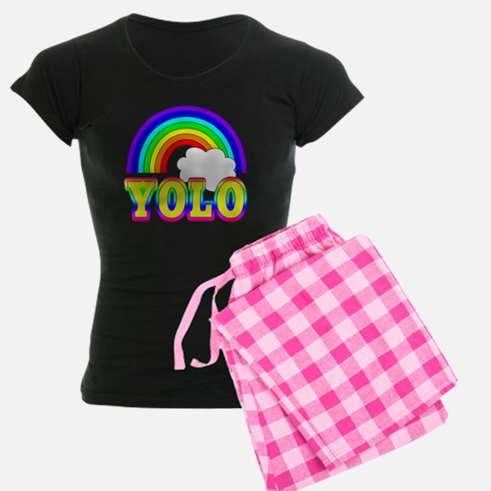 YOLO with Rainbow and Cloud Pajamas