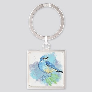 Watercolor Bluebird Pretty Blue Garden Bird Art Ke