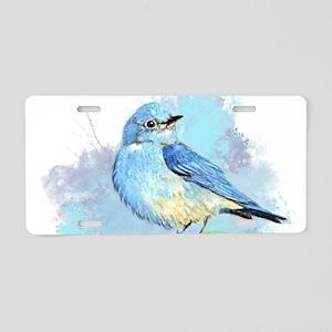 Watercolor Bluebird Pretty Blue Garden Bird Art Al