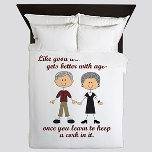 WINE AND MARRIAGE Queen Duvet