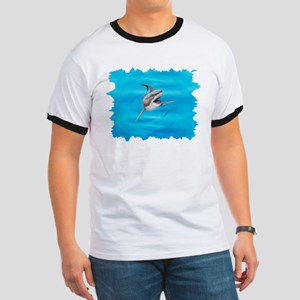 Great White Shark Hunting ~ Ringer T T-Shirt