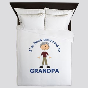 PROMOTED TO GRANDPA Queen Duvet