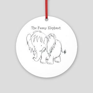 The Fuzzy Elephant Ornament (Round)