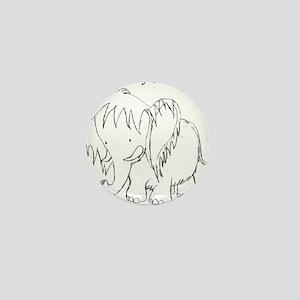 The Fuzzy Elephant Mini Button