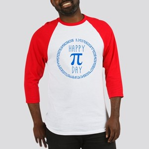 Happy Pi Day in Blue Baseball Jersey