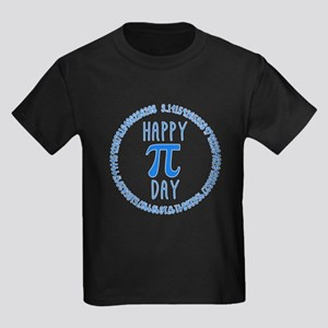 Happy Pi Day in Blue Kids Dark T-Shirt