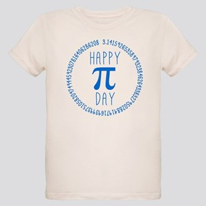 Happy Pi Day in Blue Organic Kids T-Shirt