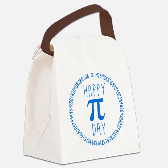Happy Pi Day in Blue Canvas Lunch Bag