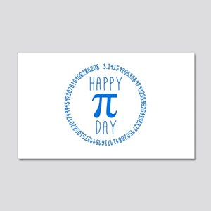 Happy Pi Day in Blue 20x12 Wall Decal
