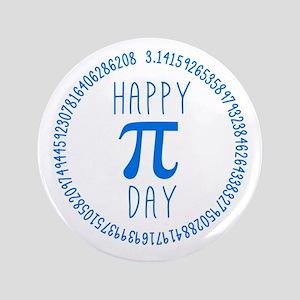 "Happy Pi Day in Blue 3.5"" Button"