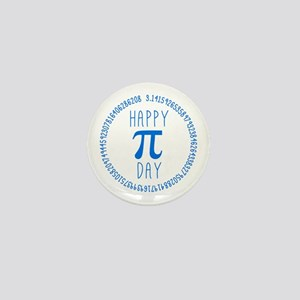 Happy Pi Day in Blue Mini Button