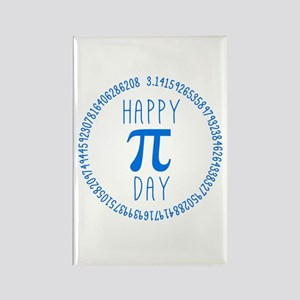 Happy Pi Day in Blue Rectangle Magnet