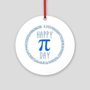 Happy Pi Day in Blue Ornament (Round)