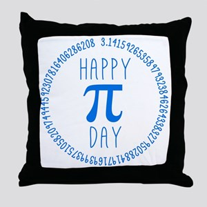 Happy Pi Day in Blue Throw Pillow