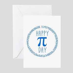 Happy Pi Day in Blue Greeting Cards (Pk of 10)