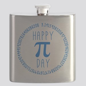 Happy Pi Day in Blue Flask