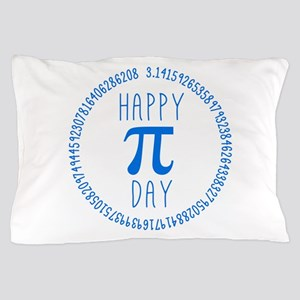Happy Pi Day in Blue Pillow Case