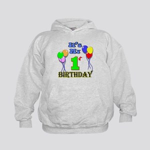 It's My 1st Birthday Kids Hoodie
