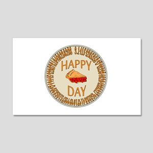 Happy PI Day Cherry Pie 20x12 Wall Decal