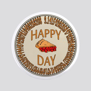 "Happy PI Day Cherry Pie 3.5"" Button"