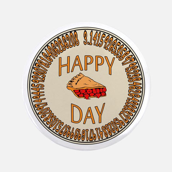 "Happy PI Day Cherry Pie 3.5"" Button"